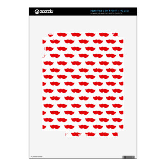 Red Moustaches iPad 3 Decal