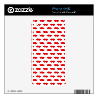 Red Moustaches Skin For The iPhone 4