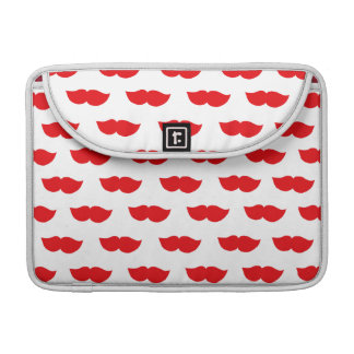 Red Moustaches Sleeve For MacBooks