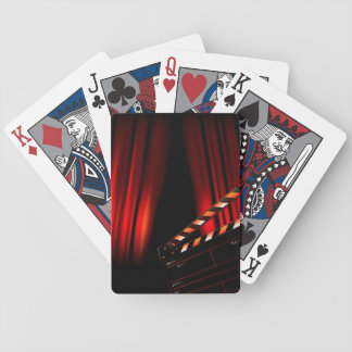 Red Movie Curtain Clapboard Director Bicycle Playing Cards