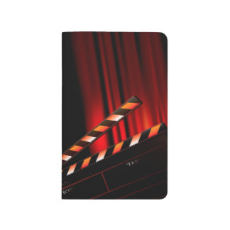 Red Movie Curtain Clapboard Director Journal