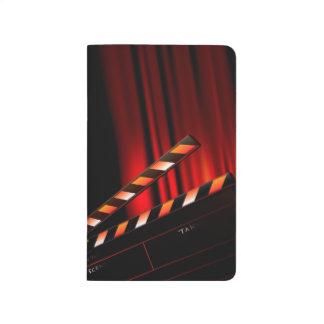 Red Movie Curtain Clapboard Director Journals