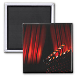 Red Movie Curtain Clapboard Director Magnet