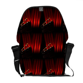 Red Movie Curtain Clapboard Director Messenger Bag