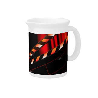 Red Movie Curtain Clapboard Director Pitcher