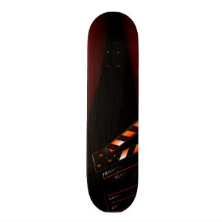Red Movie Curtain Clapboard Director Skateboard Deck