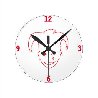 Red MTJ Round Clock