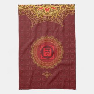 Red Muladhara, 1st (Root) Chakra Kitchen Towel
