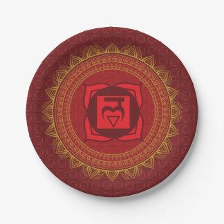 Red Muladhara, 1st (Root) Chakra Plates