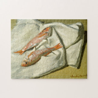 Red Mullets Monet Fine Art Jigsaw Puzzle