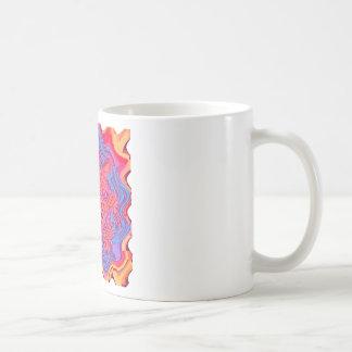 Red multi blotch coffee mug