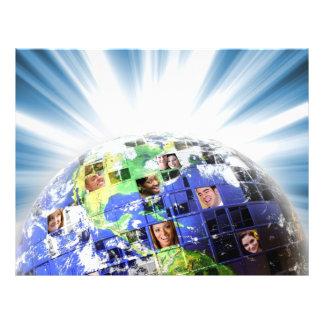 "Red mundial global de la gente folleto 8.5"" x 11"""