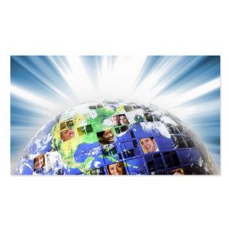 Red mundial global de la gente tarjetas de visita