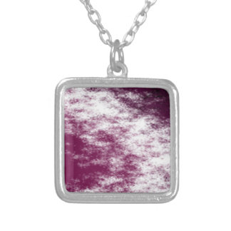 red murple silver plated necklace