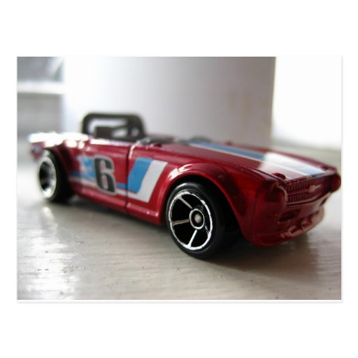 Red Muscle Car Toy Postcard