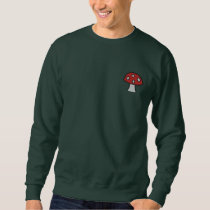 Red Mushroom Embroidered Sweatshirt