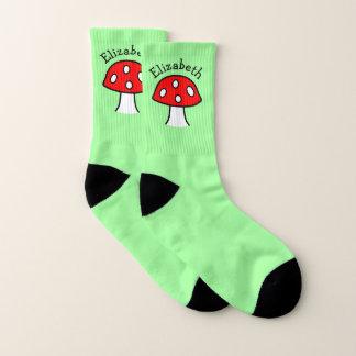 Red Mushroom Name Socks (Small)