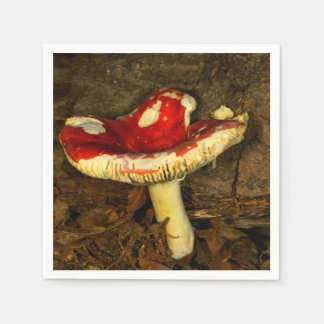 Red Mushroom Paper Napkin