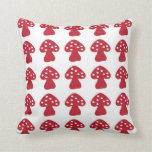 Red mushroom pillow