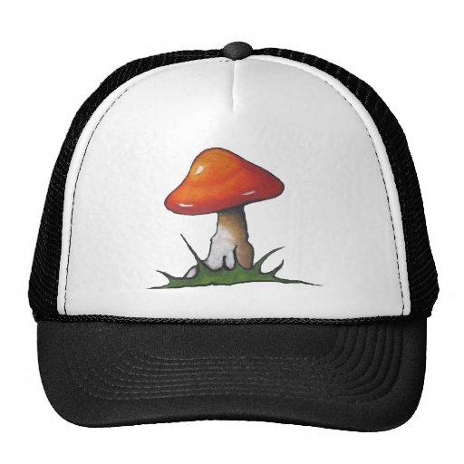 Red Mushroom: Toadstool: Freehand Marker Art Trucker Hat