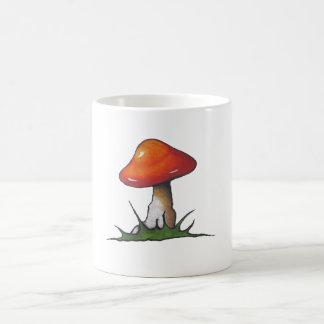 Red Mushroom: Toadstool: Freehand Marker Art Mug