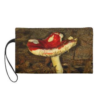 Red Mushroom Wristlet