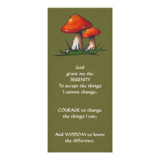 Red Mushrooms: ART: SERENITY PRAYER Rack Card
