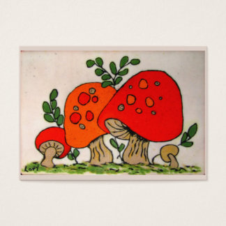 Red Mushrooms ~ ATC Business Card