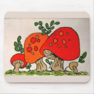 Red Mushrooms mousepad