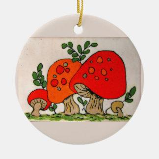 Red Mushrooms ~ ornament