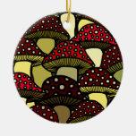Red Mushrooms Ornament