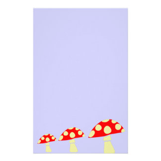 Red Mushrooms Stationery