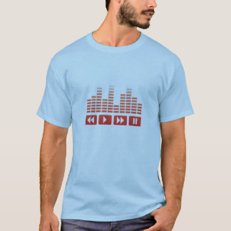 red music buttons with equalizer t-shirt