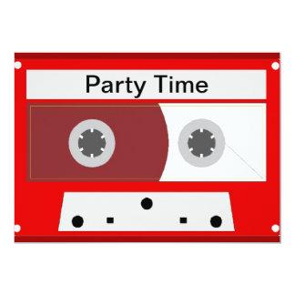 Red Music Cassette Tape Card