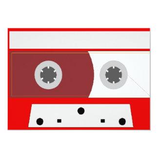 Red Music Cassette Tape Set Card