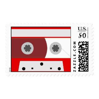 Red Music Cassette Tape Set Postage
