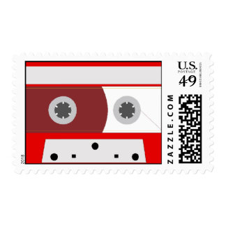 Red Music Cassette Tape Set Postage