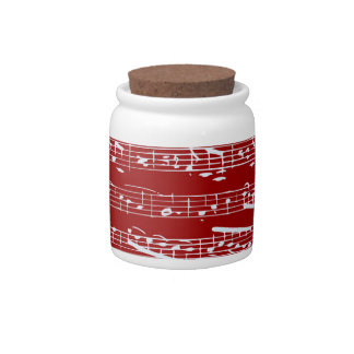 Red music notes candy dishes