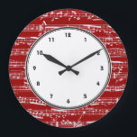 """Red musical notes wall clock with numbers<br><div class=""""desc"""">red,  white,  music,  musical,  &quot;music notes&quot;,  &quot;Musical notes&quot;,  &quot;sheet music&quot;,  &quot;music note&quot;,  &quot;music notation&quot;,  sheet,  piano,  musician,  pianist,  vintage,  stylish,  elegant,  &quot;music fan&quot;,  &quot;music lover&quot;,  &quot;i love music&quot;,  &quot;love music&quot;,  song,  songs,  singer,  singing,  playing,  play,  cool,  chic,  artist,  &quot;music artist&quot;,  musicians</div>"""