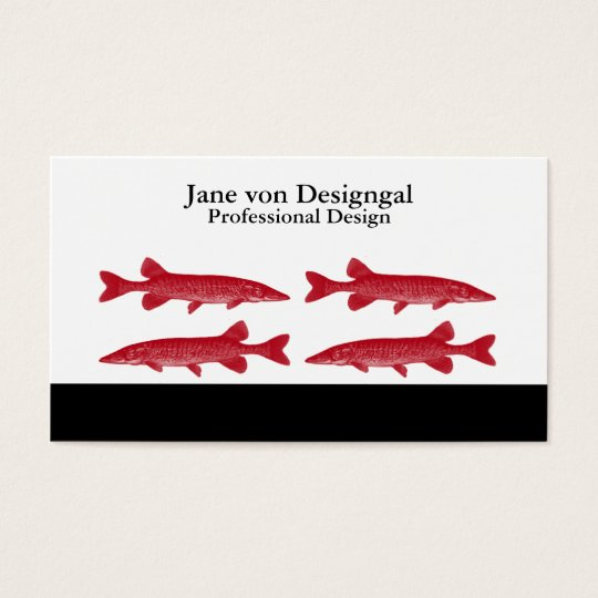 Red Muskie Fish Business Card