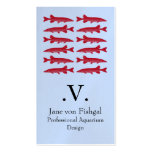 Red Muskie Fish Business Card Templates