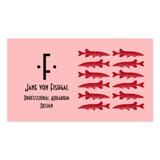 Red Muskie Fish Double-Sided Standard Business Cards (Pack Of 100)