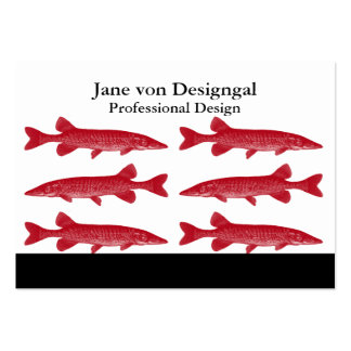 Red Muskie Fish Large Business Card