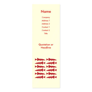 Red Muskie Fish Mini Business Card