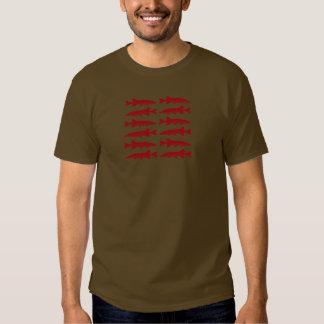 Red Muskie Fish T Shirt