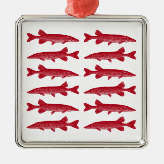 Red Muskie Metal Ornament