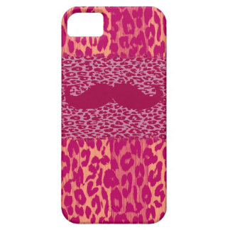 Red Mustache and Leopard Print iPhone SE/5/5s Case