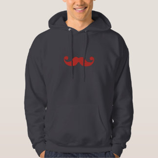 Red Mustache Hoodie