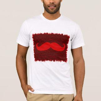 Red Mustache on leopard skin T-Shirt