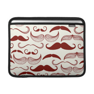 Red Mustache Pattern Sleeves For MacBook Air